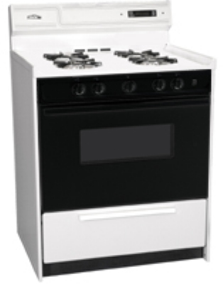 Summit Refrigeration WNM2307DK 30-in Deluxe Range w/ Electronic Ignition & Lower Broiler, White, 3.69-cu ft