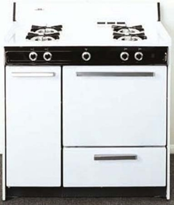 Summit Refrigeration WNM4307 NG Range w/ Electronic Ignition, 2-Oven Racks & 2-Shelf Storage, White, 2.92-cu ft, NG