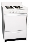 Summit Refrigeration WNM6107F NG 24-in Range w/ Electronic Ignition, 4-Sealed Burners & Handle, White, 2.9-cu ft, NG