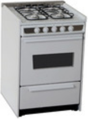 Summit Refrigeration WNM616RW LP 24-in Range w/ Universal Valves Chrome Handle & Window White & Stainless LP Restaurant Supply
