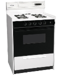 Summit WNM6307DK NG 24-in Deluxe Range w/ Electronic Ignition & Digital Timer, Black, 2.9-cu ft, NG