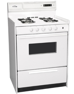 Summit Refrigeration WNM6307KW NG 24-in Deluxe Range w/ Electronic Ignition, Digital Clock & Oven Window, 2.9-cu ft, NG