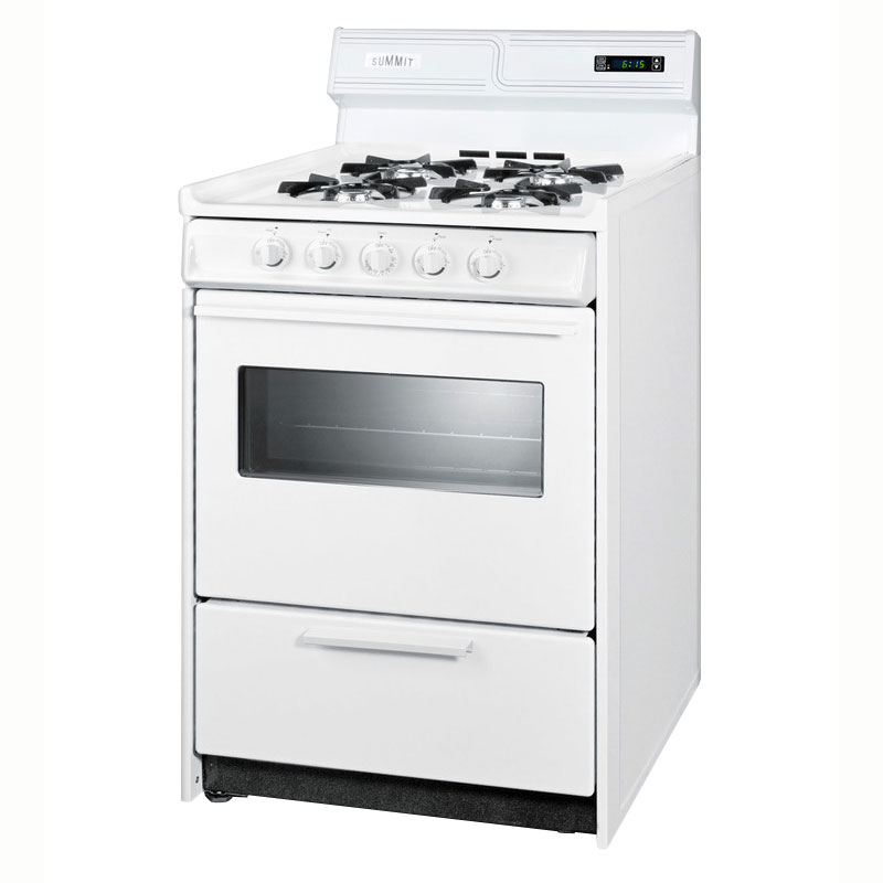 "Summit WNM6307KW 24"" Deluxe Range w/ Electronic Ignition, 2.9-cu ft, NG"