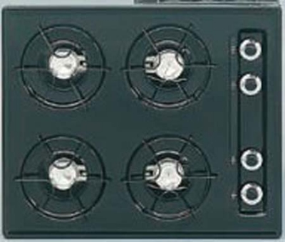 Summit WTL033 24-in Cooktop w/ Electronic Ignition, 4-Burners & Universal Valves, White