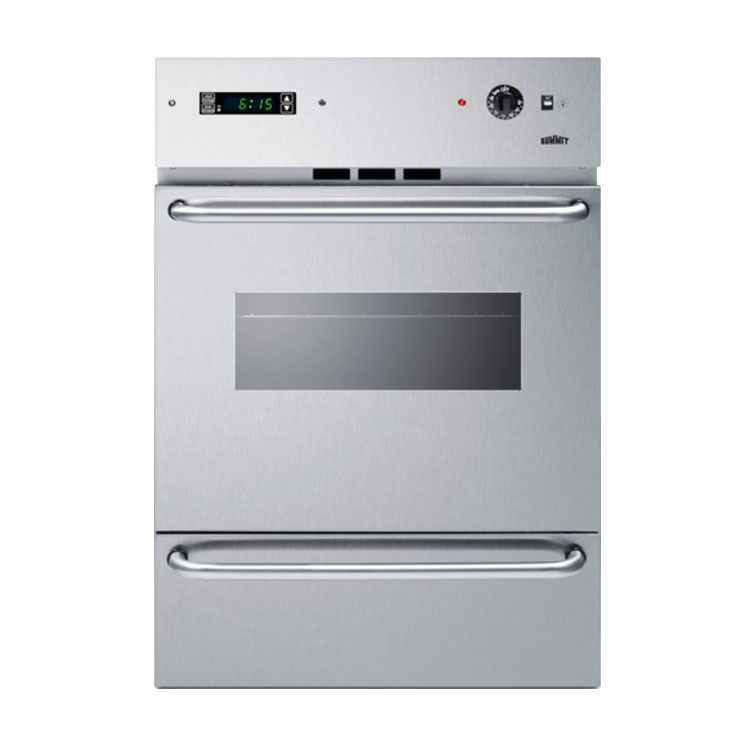 "Summit WTM7212KWSS 24"" Gas Wall Oven - Lower Broiler, Electronic Ignition, Stainless"