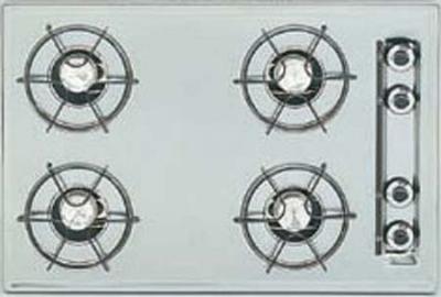 Summit Refrigeration ZTL03 4 Burner Gas Cooktop 24 in Pilot Light Ignition Brushed Chrome Restaurant Supply