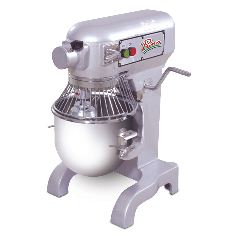 Presto PM10 10-qt Bench Model Planetary Mixer - Bowl, Guard, Wire Whip, Flat Beater, Dough Hook, .5-hp