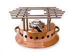 Mauviel 2702.00 M'Plus Heater w/ Alcohol Burner & Stainless Grill, Copper Body