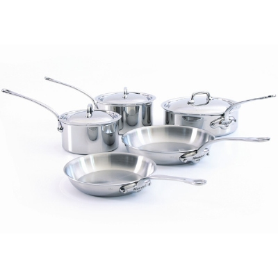 Mauviel 5210.03 M'cook Eight Piece Stainless Steel Cookware Set