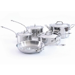 Mauviel 5210.04 M'cook Nine Piece Stainless Steel Cookware Set