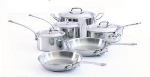Mauviel 521010 10-Piece M'cook Stainless Cookware Set
