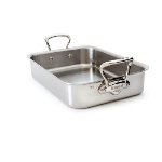 Mauviel 5217.40 15.75-in M'cook Roasting Pan, Cast Stainless Handles