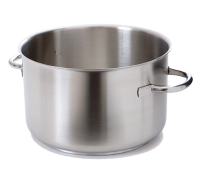 "Mauviel 5933.30 11.8"" Round Stock Pot w/ 22-qt Capacity - Induction Compatible, Stainless"