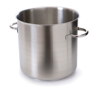 "Mauviel 5933.32 12.5"" Round Stock Pot w/ 25-qt Capacity - Induction Compatible, Stainless"
