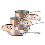 Mauviel 6100.02 7-Piece Copper & Stainless Cookware Set w/ Wood Crate