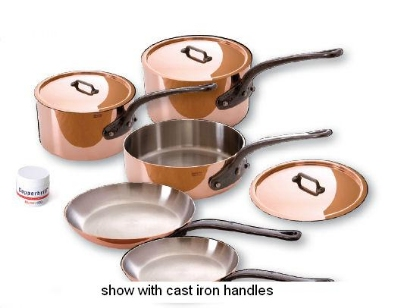Mauviel 6100.03 8-Piece Cookware Set w/ Stainless Handles