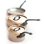 Mauviel 6501.00 5-Piece Cookware Set w/ 3-Pans & 2-lids, Cast Iron Handles