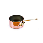 Mauviel 6510.05 2-in Round M'minis M'150b Sauce Pan w/ .1-qt Capacity & Bronze Handles, Copper
