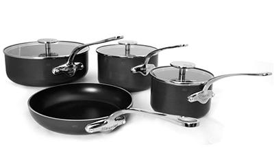 Mauviel 8200.53 7-Piece Cookware Set w/ Skillet, 3-Pans & 3-lids