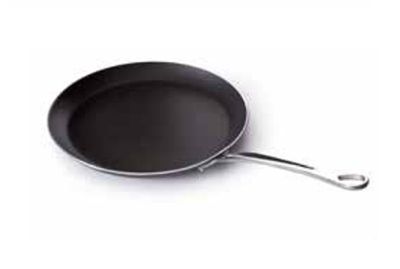 Mauviel 8220.30 11.8-in Round Crepes Pan w/ Cast Stainless Handle
