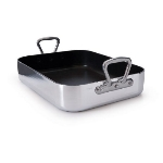 Mauviel 9850.45 M'pure Rectangular Roasting Pan w/ 12.6-qt Capacity, 17.7x13.5-in