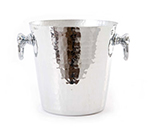Mauviel 1601.20 8-in Round M'pure Champagne Bucket w/ 1-Bottle Capacity & Handles, Hammered Aluminum