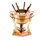 Mauviel 2719.01 M'tradition Fondue w/ 3.2-qt Capacity & Bronze Handle, Copper
