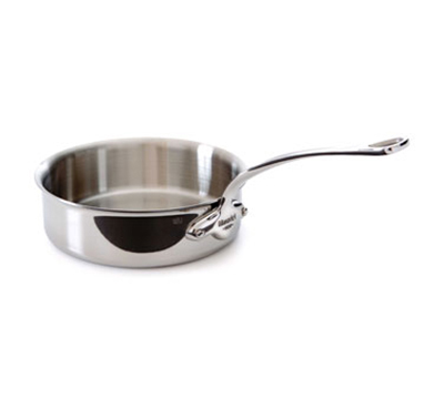 "Mauviel 5211.24 9.5"" Round M'cook Saute Pan w/ 3.4-qt Capacity & Handle, Stainless"