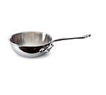 "Mauviel 5212.16 6.3"" Round M'cook Curved Splayed Pan w/ .9-qt Capacity & Handle, Stainless"
