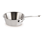 "Mauviel 522320 8"" Round M'cook Splayed Saute Pan w/ 1.8-qt Capacity, Stainless"