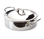 Mauviel 5230.29 11.5-in Round Rondeau Pan w/ 5.8-qt Capacity & Lid, Stainless