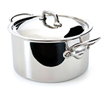 Mauviel 5231.25 9.5-in Round M'cook Stew Pan w/ 6.4-qt Capacity & Handles, Lid, Stainless