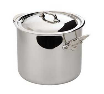 Mauviel 5232.25 9.5-in Round M'cook Magnetic Stock Pot w/ 3-qt Capacity & Handles, Lid, Stainless