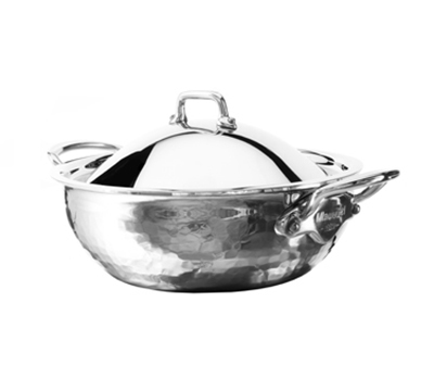 Mauviel 5272.25 Mellte Splayed Saute Pan w/ 3-qt Capacity & Dome Lid, Stainless