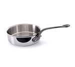 Mauviel 5611.20 8-in Round M'cook Saute Pan w/ 1.9-qt Capacity & Cast Iron Handle, Stainless