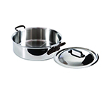 Mauviel 5630.25 9.5-in Round M'cook Rondeau Pan w/ 3.2-qt Capacity & Lid, Cast Iron