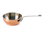 "Mauviel 6112.17 6.3"" Round M'150s Curved Splayed Saute Pan w/ .9-qt Capacity & Lid"