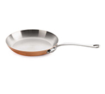 Mauviel 611326 10.5-in Round M'150s Fry Pan w/ Stainless Handle