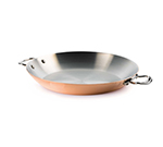 Mauviel 6127.26 10.2-in Round Pan w/ Cast Stainless Handles