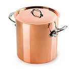 Mauviel 6132.25 9.5-in Round M'150s Stock Pot w/ 11.7-qt Capacity & Stainless Handle, Lid