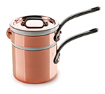 Mauviel 6404.12 4.8-in Round M'150c Bain Marie w/ .9-qt Capacity & Cast Iron Handle, Lid