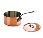 Mauviel 6410.21 3.6-qt Saucepan w/ Cover - Copper