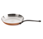 "Mauviel 6413.3 12.5"" Round M'150c Fry Pan w/ Brushed Stainless Handle, Copper"