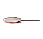 Mauviel 6420.25 10.2-in Round M'150c Crepe Pan w/ Cast Iron Handle, Copper