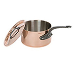 Mauviel 6501.13 28.8-oz Saucepan w/ Cover - 18/10 Stainless, Copper