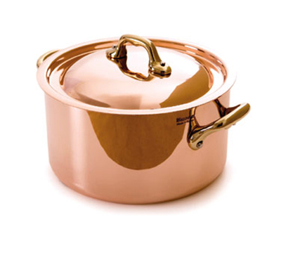 Mauviel 6522.24 9.5-in Oval M'150b Cocotte w/ 5.5-qt Capacity & Bronze Handles, Lid, Copper