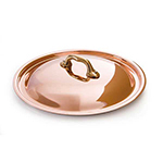 "Mauviel 6529.24 9.5"" Round M'150b Lid w/ Bronze Handle, Copper"