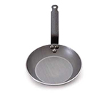 Mauviel 3651.36 14-in Round M'steel Fry Pan w/ Handle, Black