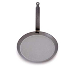 "Mauviel 3653.20 8"" Round M'steel Crepes Pan w/ Handle, Black"