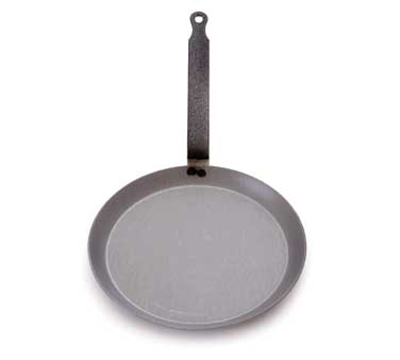 "Mauviel 3653.24 9.5"" Round M'steel Crepes Pan w/ Handle, Black"